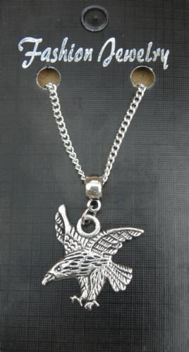 "18"" or 24 Inch Chain Necklace & Eagle Pendant / Charm Bird of Prey Gift Souvenir"